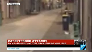 Paris Attacks: amateur footage captured exchange of gunshots during police raids