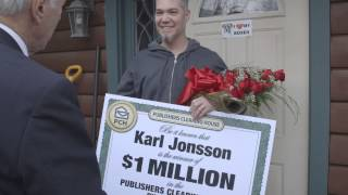 PCH December 16th $1 Million Winner Karl Jonsson
