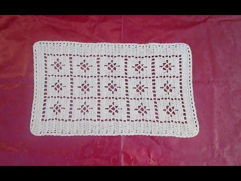 Passadeira tapete caminho de mesa croche facil marrom p for Tapete mesa