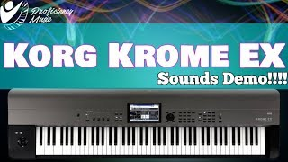 Korg Krome EX 88: Sounds Demo (All Playing, No Talking)