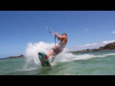 Julian Hosp kiting in New Caledonia