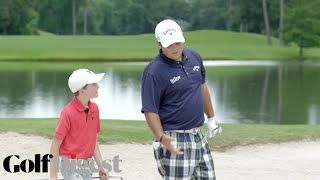 Patrick Reed Battles 10-Year-Old Phenom Bowen Ballis in 5-Round Golf Challenge | Golf Digest