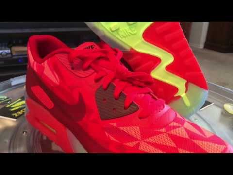 Nike Air Max 90 ICE Gym Red University Red Light