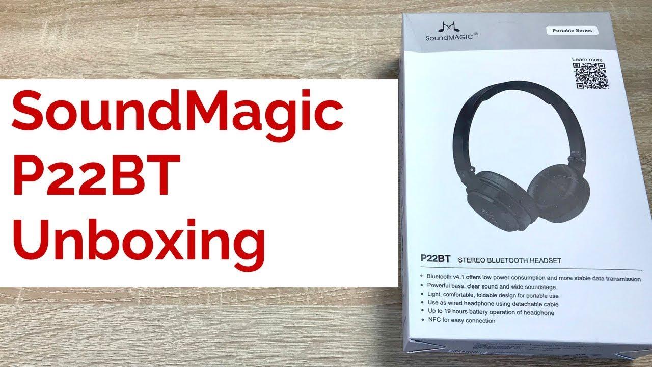 2de07c736af SoundMAGIC P22BT Stereo Wireless Headphones Unboxing - YouTube
