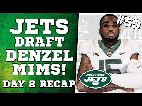 ⚪️JETS DRAFT - DENZEL MIMS!! - Day 2 Recap ⚪️ LIVE Reaction!