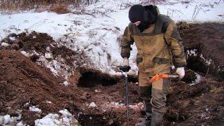Снег раскопкам не помеха. Новый шурф домовой ямы. #38
