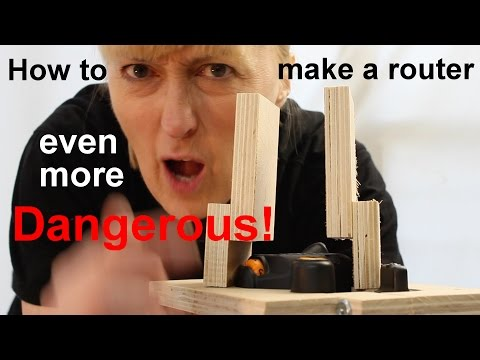 How to make a router even more dangerous: Router suspension harness