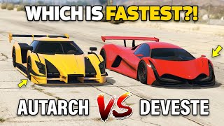 GTA 5 ONLINE - DEVESTE EIGHT VS AUTARCH (WHICH IS FASTEST?)