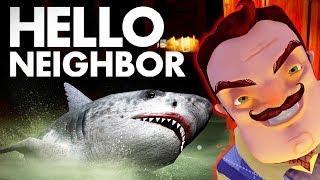 Привет Сосед и Его Акула Хотят Меня Поймать! - Hello Neighbor Привет Сосед