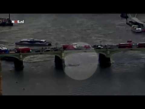 Aanslag Londen vastgelegd met bewakingscamera