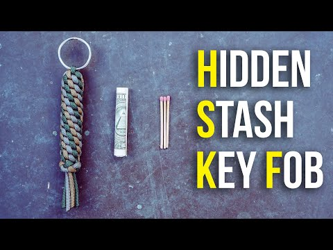 hidden-stash-paracord-key-fob-container-|-hide-emergency-cash-&-more!