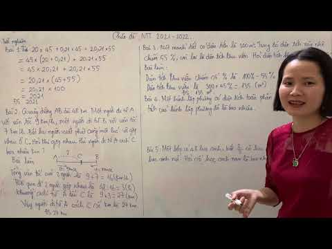 Chữa đề thi vào lớp 6 Nguyễn Tất Thành 2021-2022 (Phần 1)