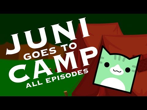 JUNI GOES TO CAMP DAYS 15!!  Geometry Dash Juniper