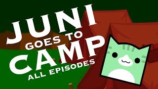 JUNI GOES TO CAMP DAYS 1-5!! | Geometry Dash Juniper