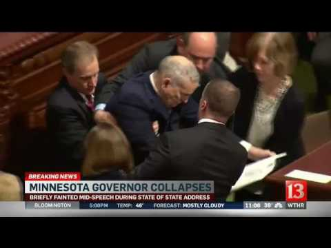 Minnesota governor collapses