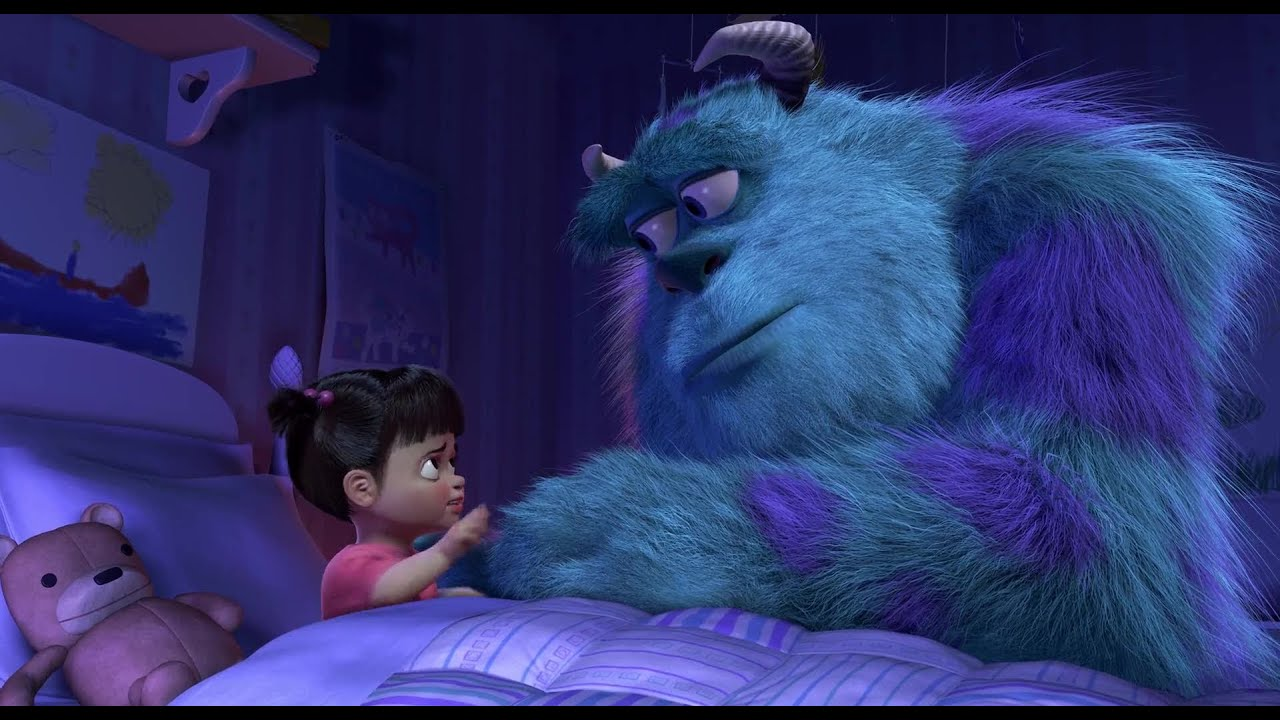 Touching Goodbye Scene Monsters Inc Boo Kitty Youtube