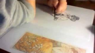Drawing Alphonse Mucha