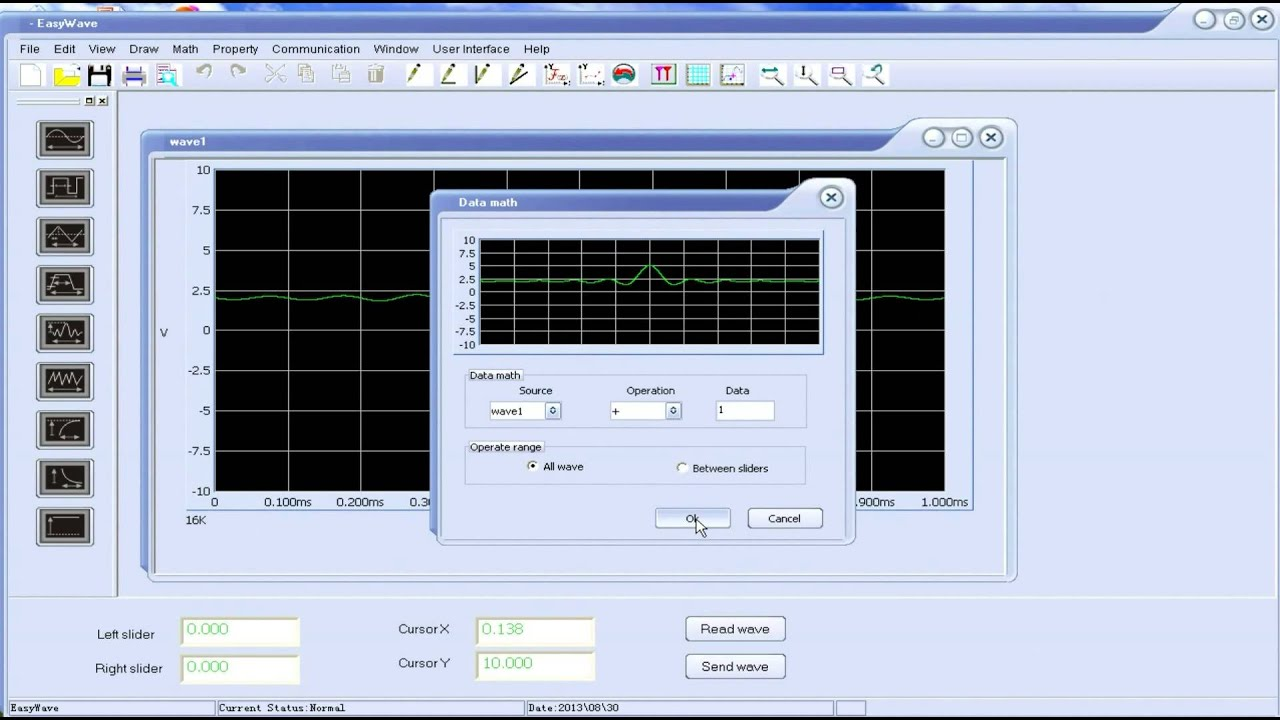 How to use SIGLENT Easywave software to create an arbitrary waveform