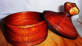 """Wood Turning A """"crown"""" And Decorated Box Lid"""