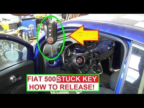 Key STUCK in IGNITION on FIAT 500 FIAT 500L FIAT 500X