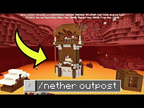 видео: КАК КОМАНДОЙ ПОСТРОИТЬ КРЕПОСТЬ МАРОДЕРОВ В АДУ В Minecraft Pe 1.12.0.4 - ПОЛНЫЙ ОБЗОР