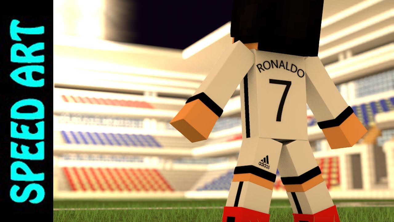 SpeedWallpaper Minecraft Cristiano Ronaldo In Minecraft CR YouTube - Skin para minecraft pe de neymar