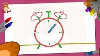 Doti Bear - learning shapes - How to draw a Clock?