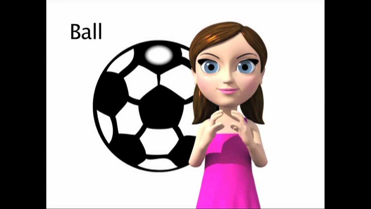 Ball Asl Sign For Ball Animated Youtube
