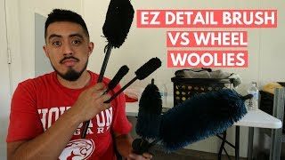 EZ DETAIL BRUSH vs WHEEL WOOIES - Which To Use For Wheel Cleaning?