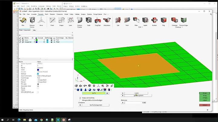 2-6. 하이퍼웍스를 이용한 충돌해석과 최적설계 Day2-Ch.10 Analysis Setup