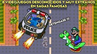 8 Videojuegos Desconocidos y MUY Extraños en Sagas Famosas - Pepe el Mago