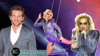 Bradley Cooper blushed when Lady Gaga had an embarrassing incident on stage