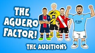 Footballers audition to become Sergio Aguero's replacement at Man City!