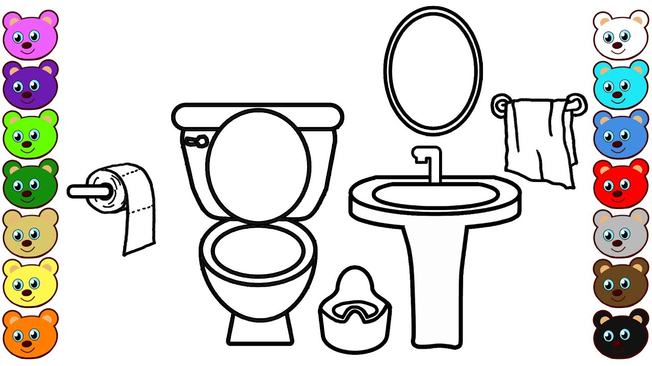 toilet room coloring pages for children youtube