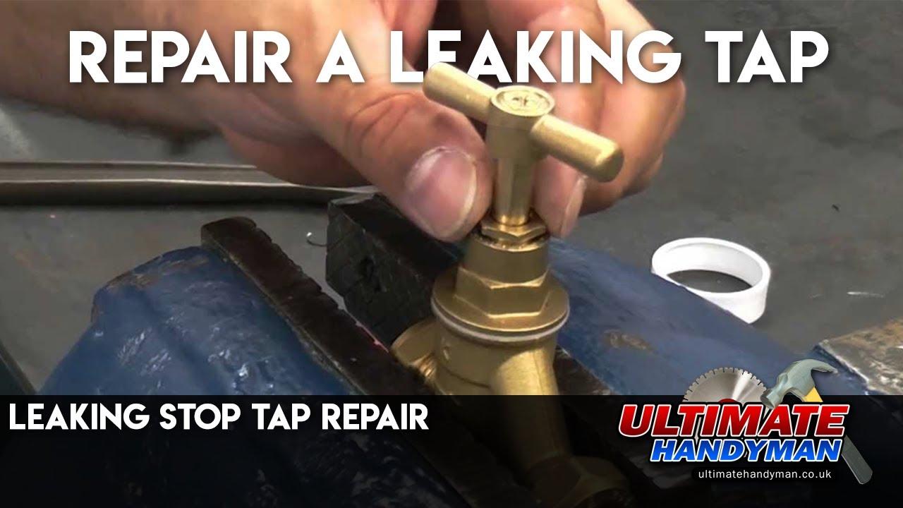 Leaking stop tap repair - YouTube