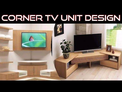 Corner Tv Unit Design For Living Room Corner Tv Units With Storage Corner Tv Stand Youtube