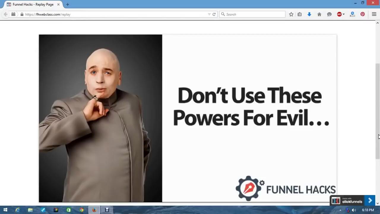 Funnel Hacks Webinar Clickfunnels 2018 Russell Brunson