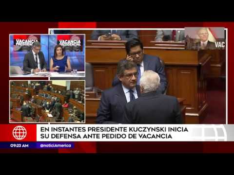 Vacancia presidencial: presentación de PPK en el Congreso