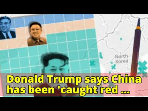 Donald Trump says China has been 'caught red handed' shipping oil to North Korea