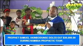 AMAZING Pro Samuel Akinbodunse doles out 30000 to Orphans in Groot Aub Namibia
