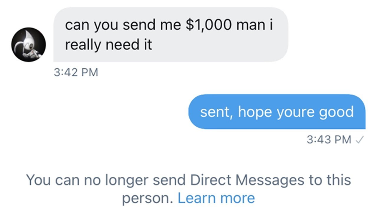 MY FRIEND SCAMMED ME...