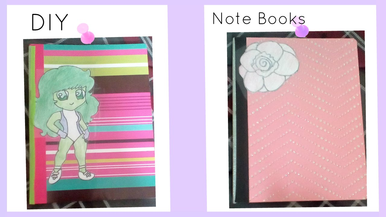 Diy How To Decorate Your Note Book For Back To School Tutorial