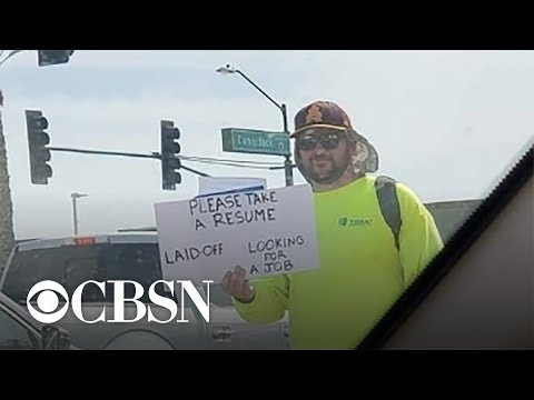 Laid-off Dad Gets Job Offers After Handing Out Resumes On The Side Of The Road