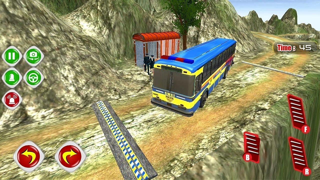 Police Bus Transport game | police bus game | bus games | bus driving game  | simulator bus
