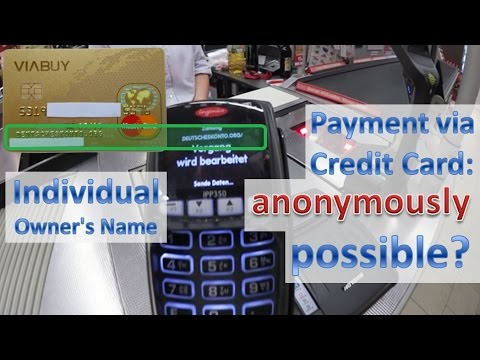 Anonymous card payment with cryptocurrency