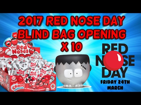 2017 RED NOSE DAY BLIND BAGS x 10 - 1 in 900 chance of FRANKINOSE