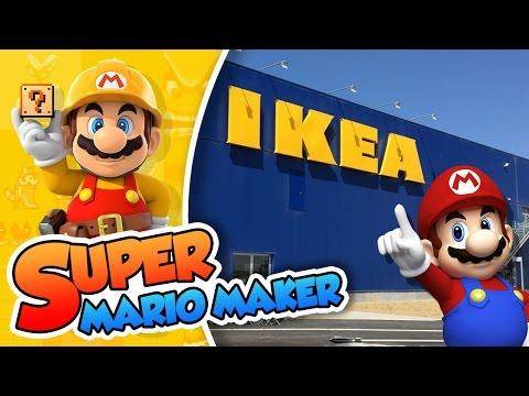 Mario se pierde en IKEA!! | Super Mario Maker (60fps)