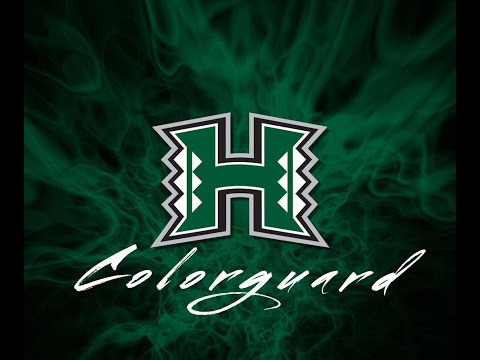 University of Hawai'i Rainbow Warrior Colorguard Recruitment 2017