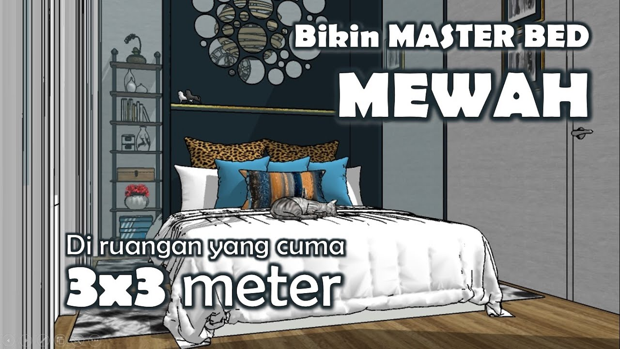 How to make a Master Suit bed room in 5 x 5 meter square room