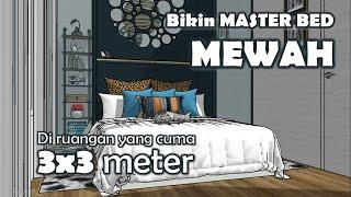 desain kamar tidur utama ukuran 3x3 meter